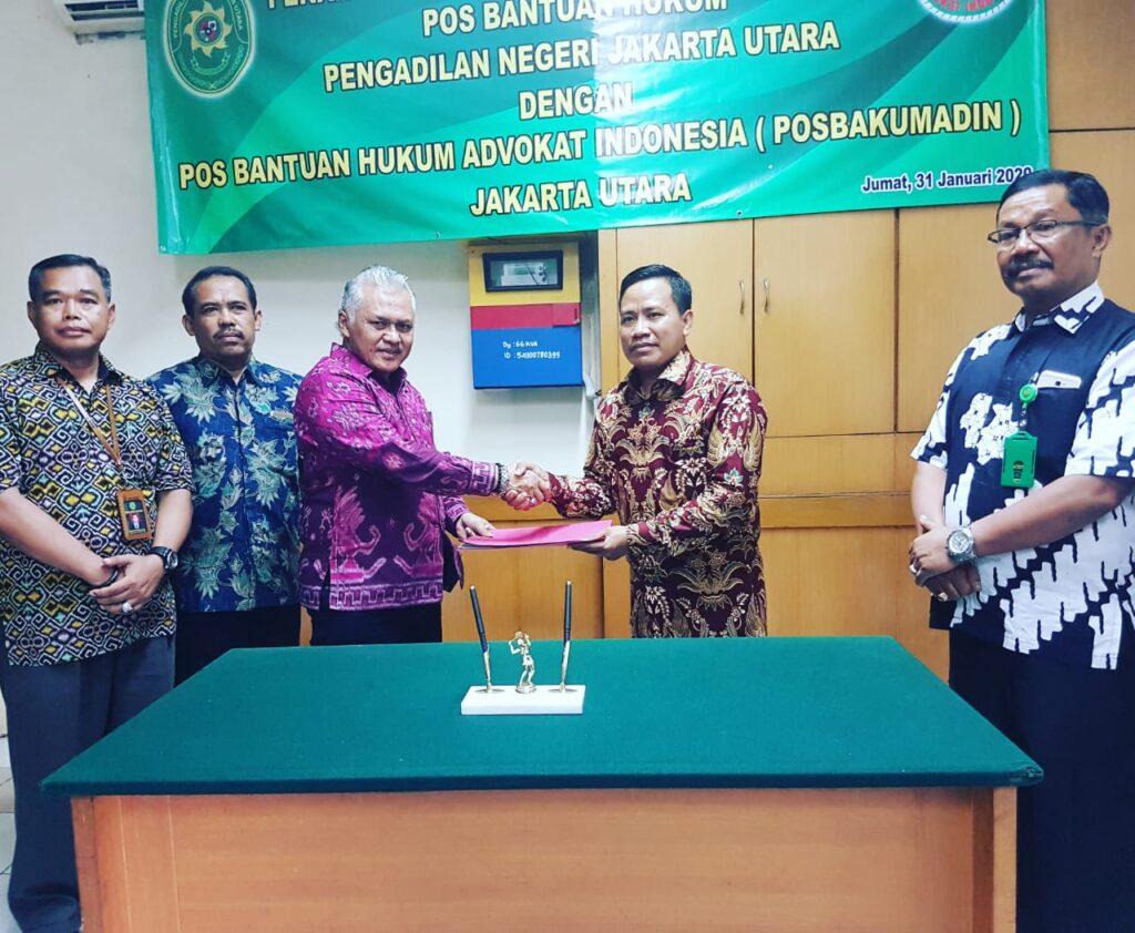 Pengadilan Negri Jakarta Utara Tanda Tangani MOU Dengan Posbakumadin Jakarta Utara