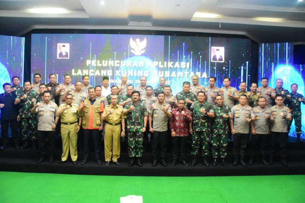 Panglima TNI dan Kapolri Resmikan Aplikasi Lancang Kuning Nusantara