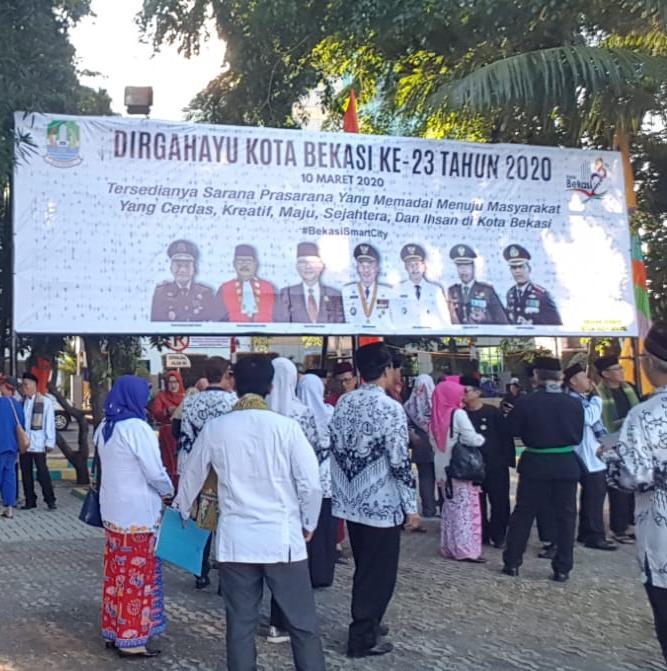 BKM KB dan UPZ PABU Hadiri Upacara HUT Kota Bekasi ke 23.