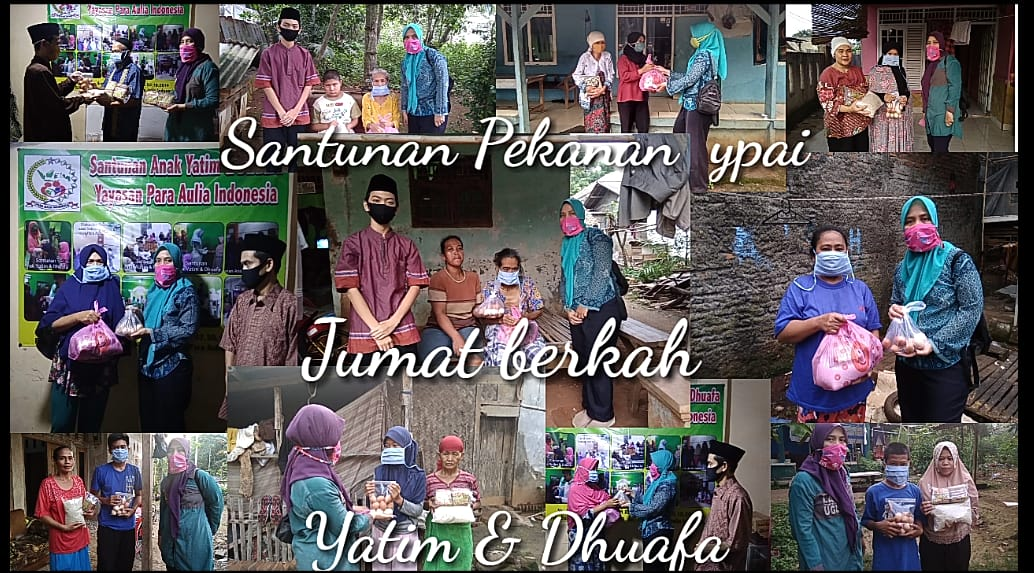 Yatim dan Dhuafa dapat Santunan Pekanan dari Yayasan Para Aulia Indonesia Hadapi PSBB
