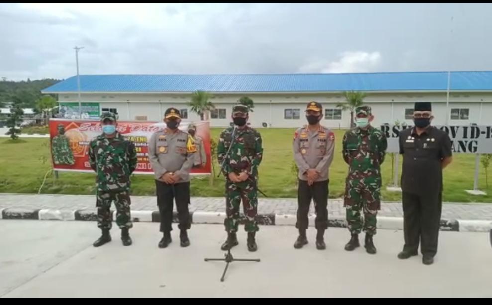 Tiba di Batam, Kapolri dan Panglima TNI Kunjungi RSKI Galang