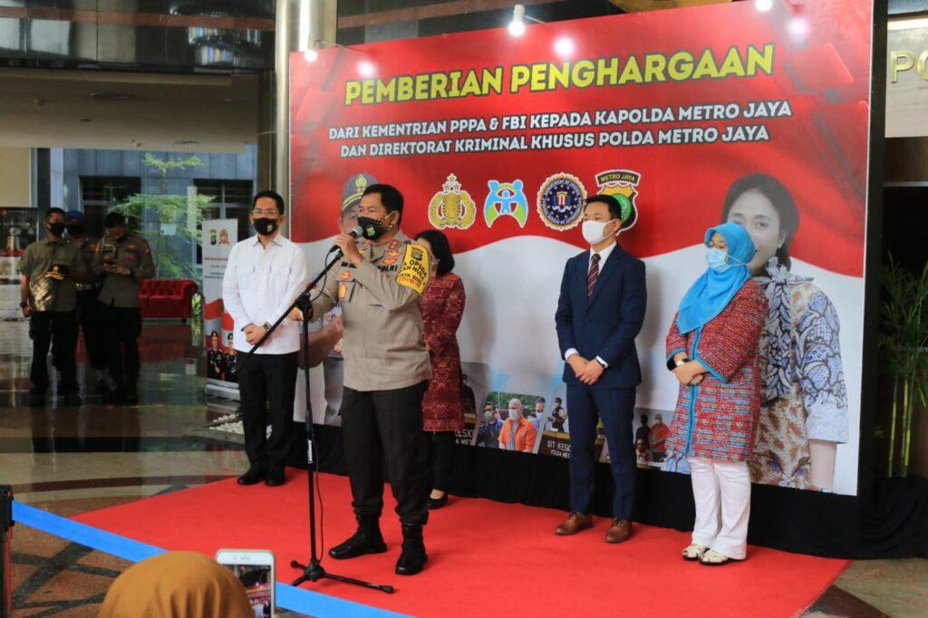 KemenPPPA dan FBI Beri Apresiasi dan Penghargaan Pada Ditreskrimsus Polda Metro Jaya
