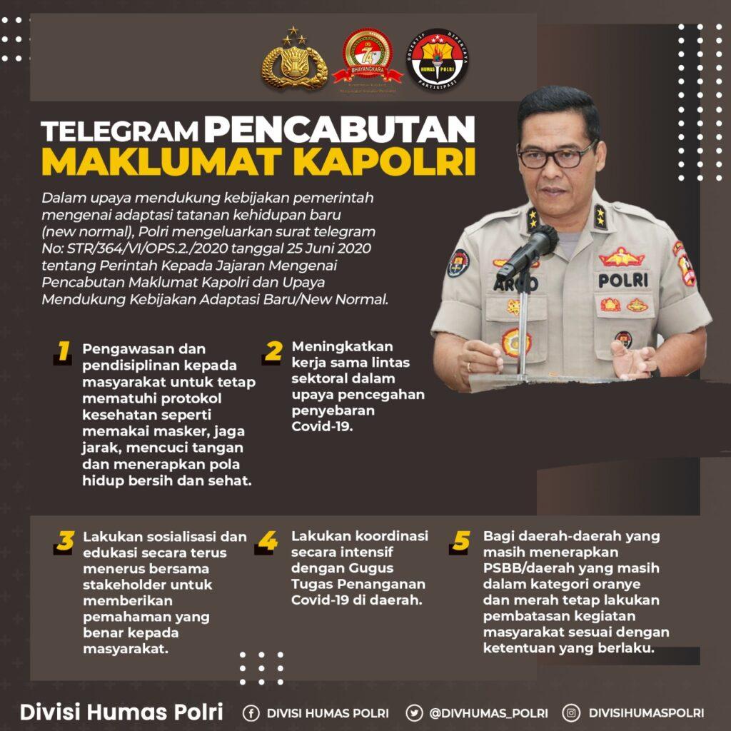 Telegram Pencabutan Maklumat Kapolri