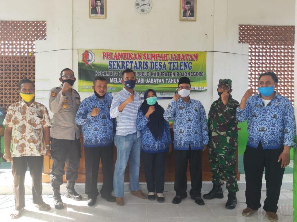 Hadiri Pelantikan Sekdes Teleng, Kapolsek Harap Kinerja Pemerintahan Desa Teleng Semakin Efektif