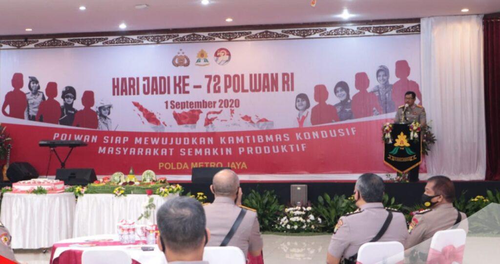 Polda Metro Jaya Rayakan Syukuran HUT Polwan RI ke 72