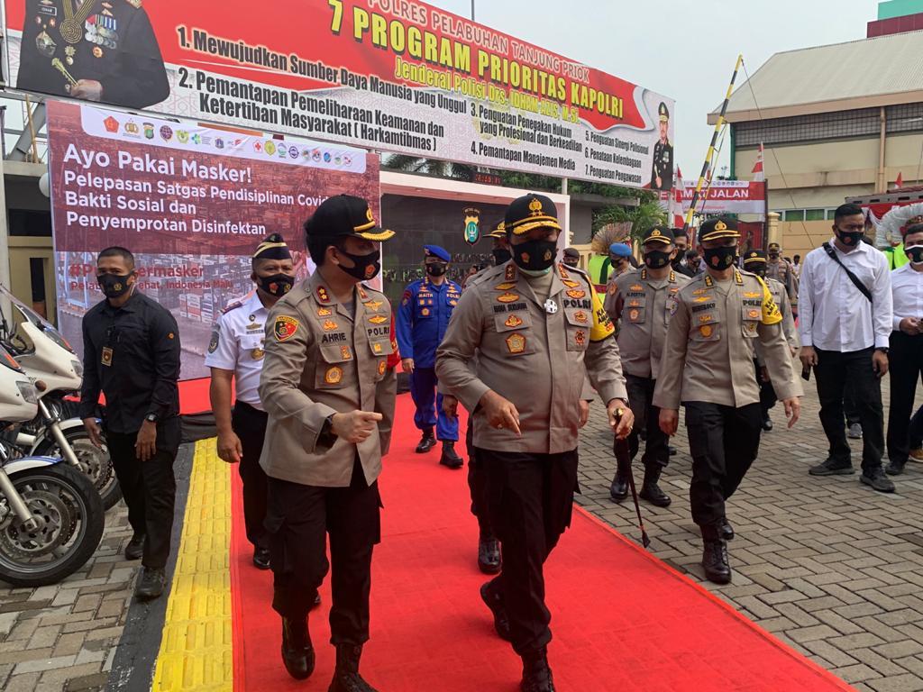 Kapolda Hadir Deklarasi Priok Bermasker di Pelabuhan Tj.Priok