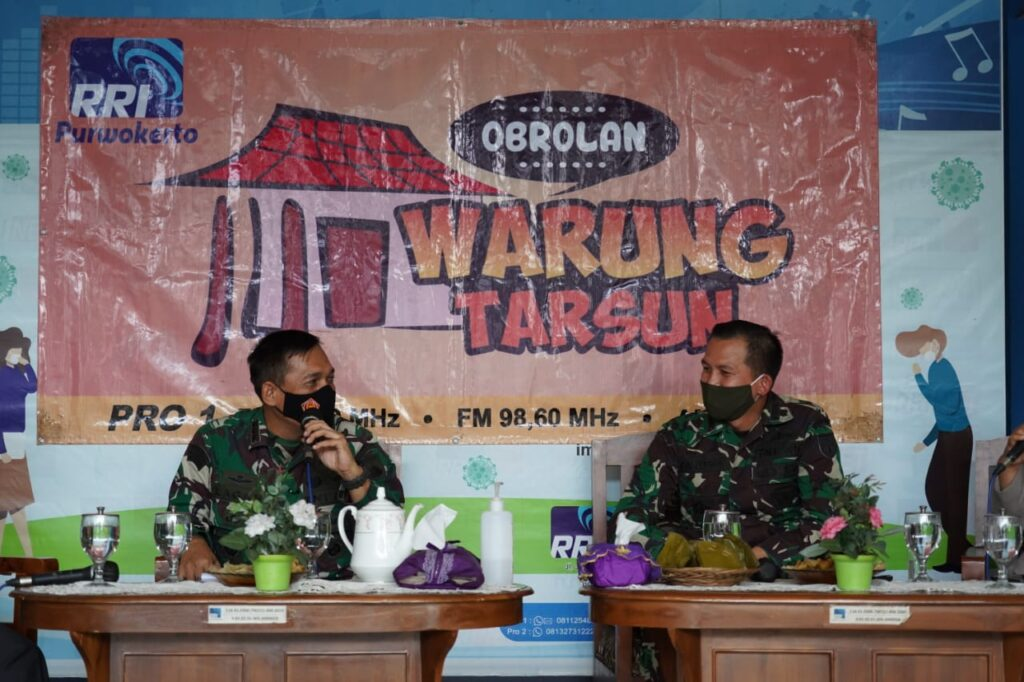 "Danrem 071/Wijayakusuma Narasumber ""Dialog Warung Tarsun"" di Pro 1 RRI Purwokerto"