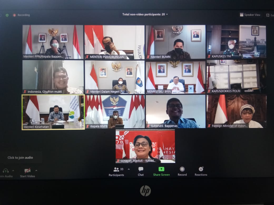 Menteri PPN Ikuti Rapat Tingkat Menteri Membahas Persiapaan Pelaksanaan Vaksin