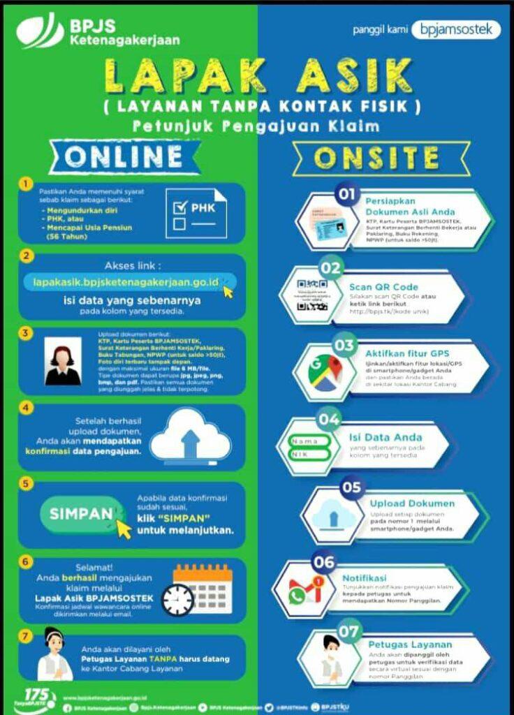 BPJAMSOSTEK Terapkan Protokol Lapak ASIK Onsite Maupun Online