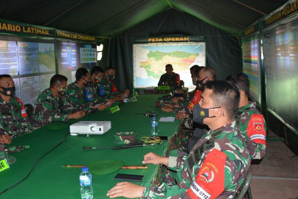 Danrem 071/WK Inspeksi Latihan Penanggulangan Bencana Alam Sirampog Brebes