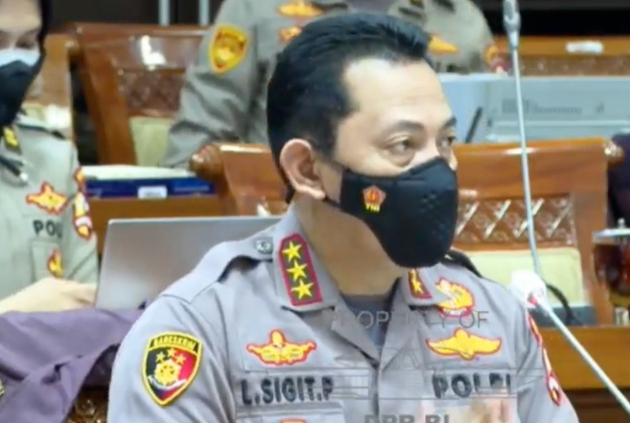 Komjen Listyo Sigit Prabowo didampingi Kapolri Jenderal Idham Aziz Tiba di DPR untuk Uji Calon Kapolri