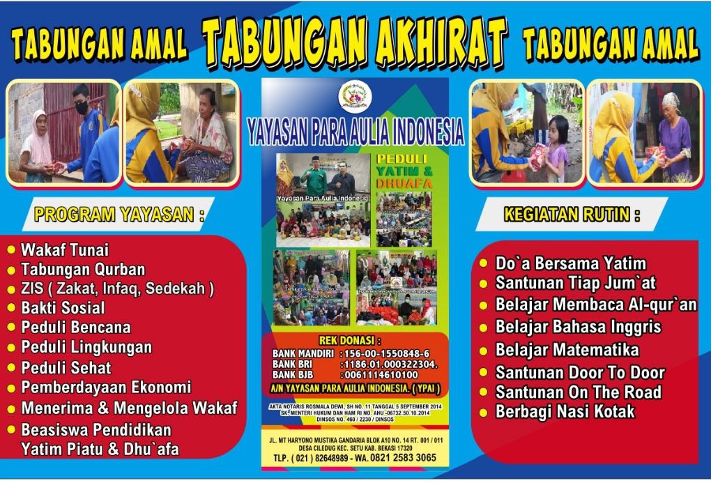 Kegiatan Yayasan Para Aulia Indonesia