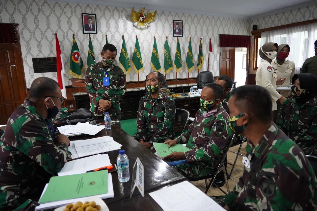 Laksanakan Fungsi Pengawasan, Tim Wasrik Post Audit Itjenad Kunjungi Korem 071/Wijayakusuma
