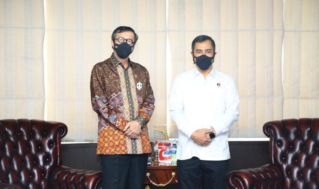 Kabareskrim Polri Silaturahmi ke Menkumham, Bahas Tindak Pidana Perdagangan WNI di Luar Negeri