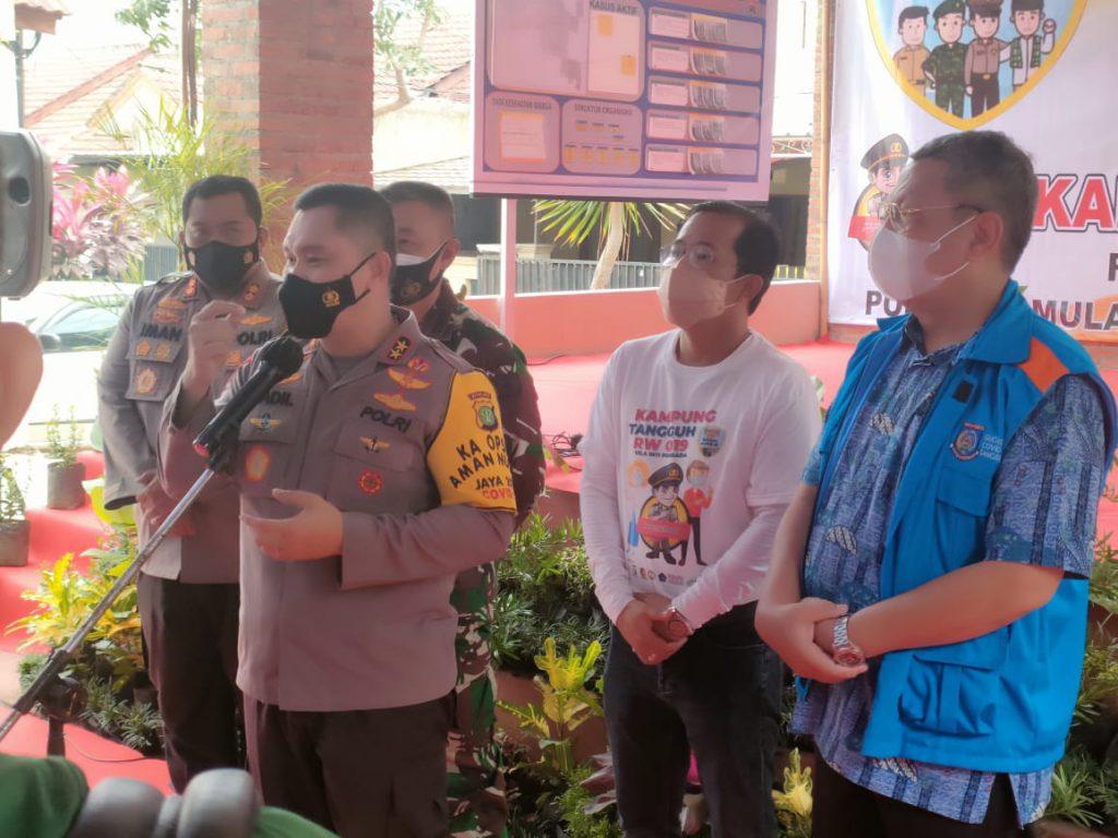 Kampung Tangguh Jaya Villa Inti Persada Pamulang Tekan Kasus Positif Hingga Sisa 6 Orang