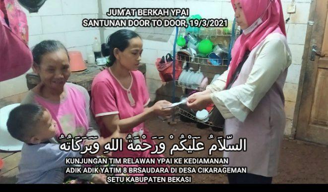 Kunjungan Tim Relawan Bersama Ketua Yayasan Para Aulia Indonesia di Kediaman 8 Yatim Bersaudara