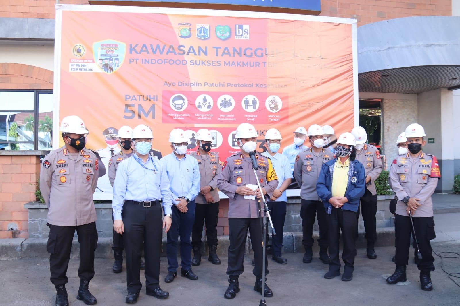 Kapolda Metro Tinjau Kawasan Tangguh Jaya di PT Bogasari, Ini Hasilnya